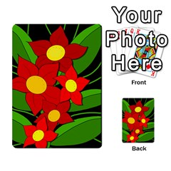 Red flowers Multi-purpose Cards (Rectangle)