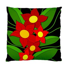 Red flowers Standard Cushion Case (Two Sides)