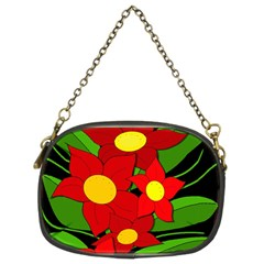 Red flowers Chain Purses (Two Sides)