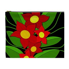 Red flowers Cosmetic Bag (XL)