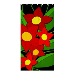 Red flowers Shower Curtain 36  x 72  (Stall)