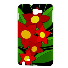 Red flowers Samsung Galaxy Note 1 Hardshell Case