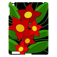 Red flowers Apple iPad 3/4 Hardshell Case