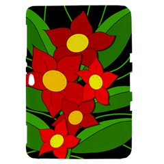 Red flowers Samsung Galaxy Tab 8.9  P7300 Hardshell Case