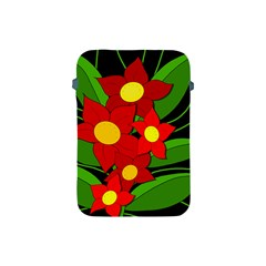 Red flowers Apple iPad Mini Protective Soft Cases