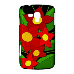 Red flowers Samsung Galaxy Duos I8262 Hardshell Case