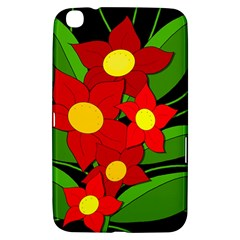 Red flowers Samsung Galaxy Tab 3 (8 ) T3100 Hardshell Case