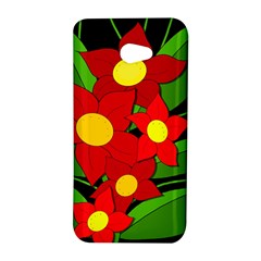 Red flowers HTC Butterfly S/HTC 9060 Hardshell Case