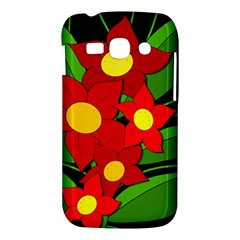 Red flowers Samsung Galaxy Ace 3 S7272 Hardshell Case