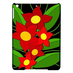 Red flowers iPad Air Hardshell Cases