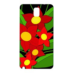 Red flowers Samsung Galaxy Note 3 N9005 Hardshell Back Case