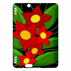Red flowers Kindle Fire HDX Hardshell Case