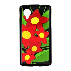 Red flowers Nexus 5 Case (Black)