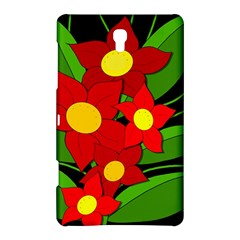 Red flowers Samsung Galaxy Tab S (8.4 ) Hardshell Case