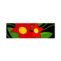 Red flowers Satin Scarf (Oblong)