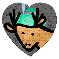 Deer Jigsaw Puzzle (Heart)