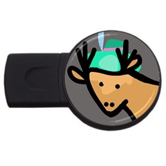 Deer USB Flash Drive Round (4 GB)