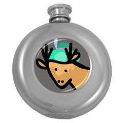 Deer Round Hip Flask (5 oz)