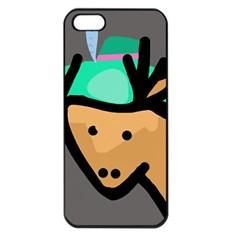 Deer Apple iPhone 5 Seamless Case (Black)