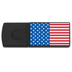Usa Flag USB Flash Drive Rectangular (4 GB)