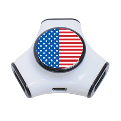 Usa Flag 3-Port USB Hub