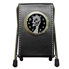 Horror Pen Holder Desk Clocks