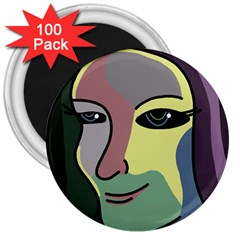 Lady 3  Magnets (100 pack)