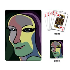 Lady Playing Card