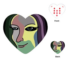 Lady Playing Cards (Heart)