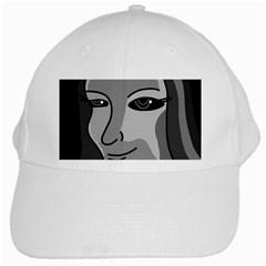Lady - gray White Cap