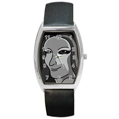 Lady - gray Barrel Style Metal Watch