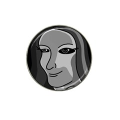 Lady - gray Hat Clip Ball Marker
