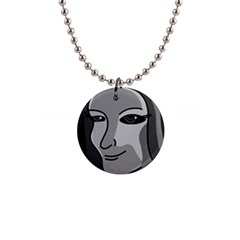 Lady - gray Button Necklaces