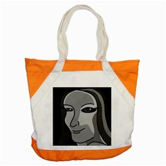 Lady - gray Accent Tote Bag