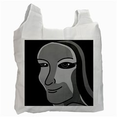Lady - gray Recycle Bag (One Side)
