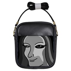 Lady - gray Girls Sling Bags