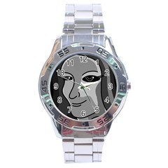 Lady - gray Stainless Steel Analogue Watch