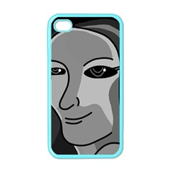 Lady - gray Apple iPhone 4 Case (Color)