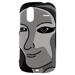 Lady - gray HTC Amaze 4G Hardshell Case