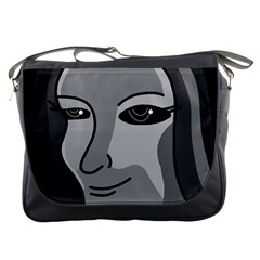 Lady - gray Messenger Bags