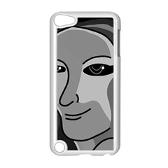 Lady - gray Apple iPod Touch 5 Case (White)