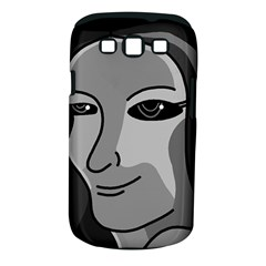 Lady - gray Samsung Galaxy S III Classic Hardshell Case (PC+Silicone)