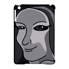 Lady - gray Apple iPad Mini Hardshell Case (Compatible with Smart Cover)