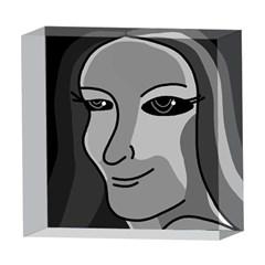 Lady - gray 5  x 5  Acrylic Photo Blocks