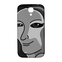 Lady - gray Samsung Galaxy S4 I9500/I9505  Hardshell Back Case