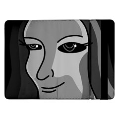 Lady - gray Samsung Galaxy Tab Pro 12.2  Flip Case