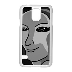 Lady - gray Samsung Galaxy S5 Case (White)