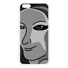 Lady - gray Apple Seamless iPhone 6 Plus/6S Plus Case (Transparent)