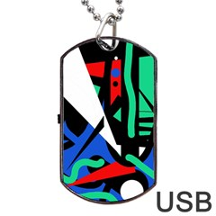Find me Dog Tag USB Flash (Two Sides)