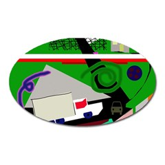 Trip Oval Magnet